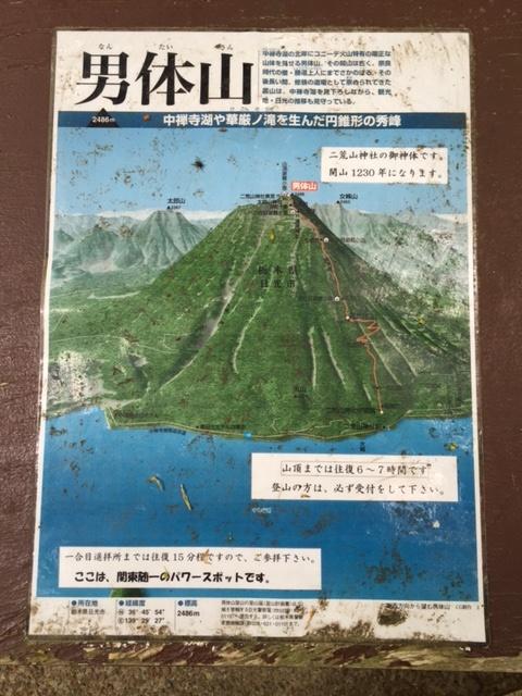 男体山登山地図