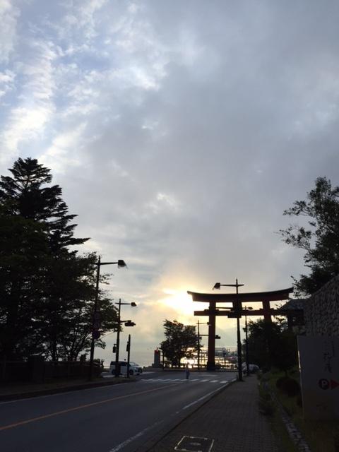 夕焼け20160925