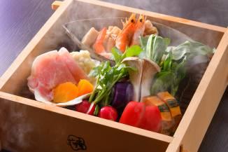 冬料理:【蒸篭蒸し】季節のお野菜